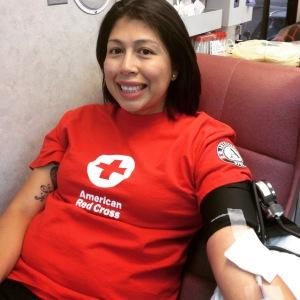 Blood donation for Captn. Dern