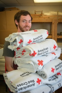Eric Anderson is an Americorps volunteer from Kentucky. He came all the way to South Carolina to help with relief efforts for Hurricane Matthew. Photo by Virginia Becker